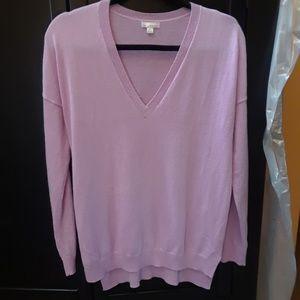 Gap True Soft Lavender V-Neck Pullover Sweater M